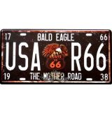 ROUTE 66 - BALD EAGLE - THE MOTHER ROAD. R66.. fém dekorációs tábla.