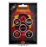 Airbourne -  Button Badge Pack. Breakin' Outta Hell.   jelvényszett