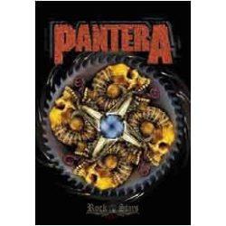 PANTERA - 4 SKULL. TEXTILE POSTER. zenekaros zászló