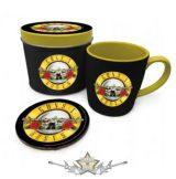 Guns N Roses - Bullet Logo Mug Gift Set in Tin. fémdobozos bögre . fémdobozos bögre