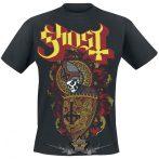 Ghost - Papa Shield.  zenekaros  póló.