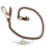 Nadráglánc, pénztárcalánc *  Classic lánc, kis koponya+toll. 65.cm. JVP. Chrom. motoros oldal lánc