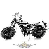 Motor design. 50.  nagy méret. fém motoros dísztárgy