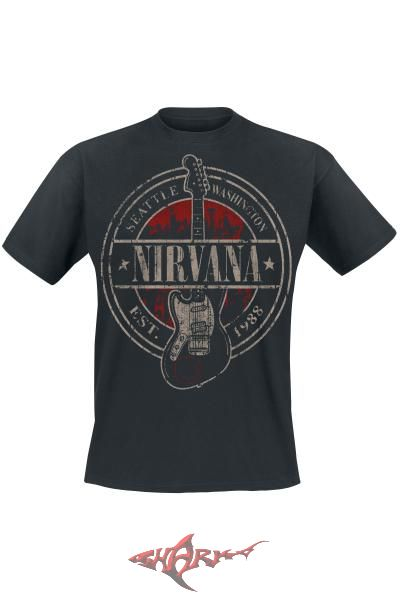 NIRVANA - SEATTLE. póló - Shark n Roll - Rock- Metal - Webshop ... 2abfa9b132