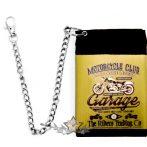GARAGE - MOTORCYCLE CLUB.  textil pénztárca