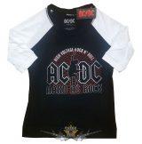 AC/DC - Unisex Raglan Tee.  Hard As Rock  női póló
