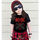 AC/DC - ROCK N ROLL  gyerek póló
