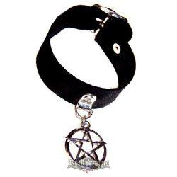 Pentagrammás karkötő, csuklószorító. BE.