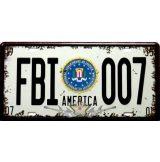 FBI - 007. AMERICA. fém dekorációs tábla.