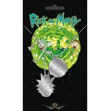 RICK AND MORTY - R.M. face.  medál, dog tag