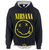 NIRVANA - SMILEY.   kapucnis pulóver
