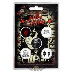 Alice Cooper -  'Eyes' Button Badge Pack.   jelvényszett