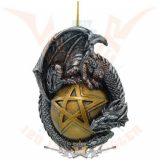 Dragon on ball decorated . 5543..  fantasy dísz,