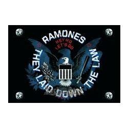 RAMONES - THEY LAID.... TEXTILE POSTER. zenekaros zászló