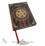 Boszorkány könyv - Dombornyomott varázslatkönyv - Embossed Spell Book Red 17cm.  Notebook.   napló, notesz