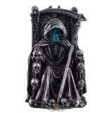 Death with scythe sit on throne - Halál kaszával a trónón. 837-7639   koponya figura