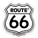 ROUTE US 66 - White logo  felvarró