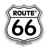 ROUTE US 66 - White logo  felvarró