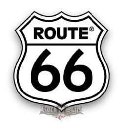 ROUTE US 66 - White logo. FV61.  felvarró