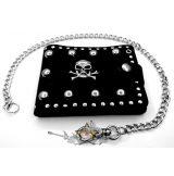 Skull - Koponyás - szegecses pénztárca lánccal.  pénztárca
