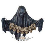 Üdvözöljük a pokolban ! Death with skulls on a row - Halál koponyákkal. 893-0030. koponya figura