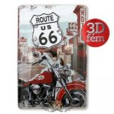 Route 66 - Vintage Metal signs 20X30 CM.. fém tábla kép
