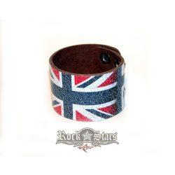 England - Festett bőr karkötő, csuklószoritó