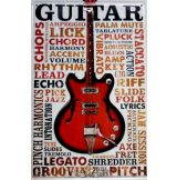 GUITAR MUSIC 2 -  Metal Sign.  20X30.cm. fém tábla kép