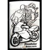 MOTOR CYCLE SILVER 3.  zippo fazonú öngyujtó
