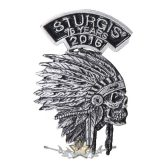 Sturgis Motorcycle Rally - Indian Headdress Pin. USA import motoros fém  jelvény