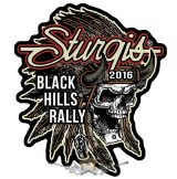 Sturgis Motorcycle Rally - Indian Chief Patch. USA.  felvarró