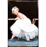 MARILYN MONROE - MEMORY.  20X30.cm. fém tábla kép