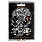 FIVE FINGER DEATH PUNCH - 5FDP Button Badge.  jelvényszett