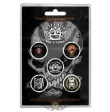 FIVE FINGER DEATH PUNCH - 5FDP Button Badge.  jelvényszett
