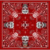 Sugar Skull Red Bandana - Official 76th Sturgis Motorcycle Rally. .USA.  vászon kendő