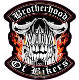 BROTHERHOOD OF BIKERS.   felvarró.