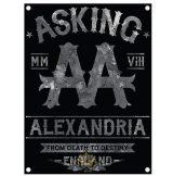 ASKING ALEXANDRIA - BLACK LABEL. . TEXTILE POSTER. zenekaros zászló