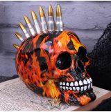 Inferno Bullet Mohawk Skull Ornament 18.5cm.  koponya figura