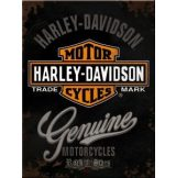 HARLEY DAVIDSON - GENUINE - 15x20.cm.  fém tábla kép