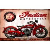 BIKER - INDIAN MOTORCYCLES - MODEL 101 - INDIAN SCOUT.  20X30.cm. fém tábla kép