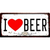 I LOVE BEER. fém dekorációs tábla.