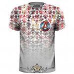 Avengers - Icons Pattern Pocket Logo. Sublimation Tee.   Marvel Comics.   filmes, movie  póló