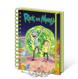 RICK AND MORTY - A5 NOTEBOOK.   napló, notesz