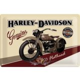 Harley Davidson - 750 FLATHEAD.  fém képeslap