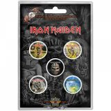 IRON MAIDEN - FACES OF EDDY. Button Badge Pack.  jelvényszett