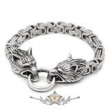 Byzantine Chain BRACELET - WOLF HEAD.  karkötő. JVP.