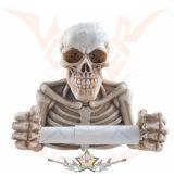 Skeleton chest roll paper holder - Csontváz tekercspapír tartó.  816-5434. koponya figura