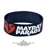 MAYDAY PARADE - LOGO -  Rubber Wristband.   szilikon karkötő