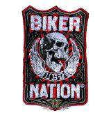 BIKER NATION.   hímzett felvarró