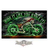 Skeleton Cycle Full Size Biker Flag. FGA1062.  zászló